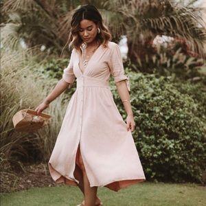 ChicWish Blush Pink Dress